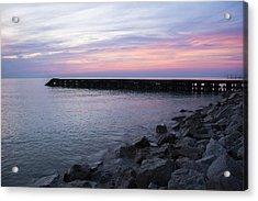 Sunrise Lake Michigan September 7th 2013 002 Acrylic Print