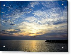 Sunrise Lake Michigan September 7th 2013 005 Acrylic Print