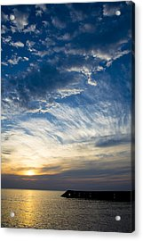 Sunrise Lake Michigan September 7th 2013 009 Acrylic Print