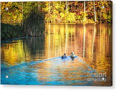 Sunrise Lake Rendezvous Acrylic Print