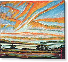Sunrise Les Eboulements Quebec Acrylic Print by Patricia Eyre