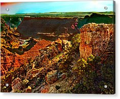 Sunrise Lipan Point Grand Canyon Acrylic Print by Bob and Nadine Johnston