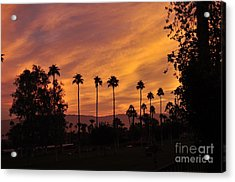 Sunrise Looking East Towards Mecca Acrylic Print