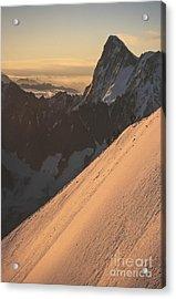 Sunrise Massif Du Mt Blanc Acrylic Print by Soren Egeberg