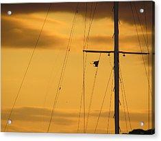 Sunrise Mast Cables Acrylic Print