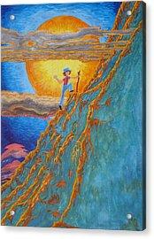 Acrylic Print featuring the painting Sunrise by Matt Konar