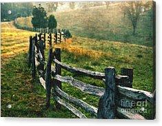 Sunrise Meadow - Blue Ridge Parkway II Acrylic Print by Dan Carmichael