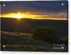 Sunrise Mesa Verde Acrylic Print by Keith Ducker