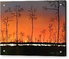 Acrylic Print featuring the painting Sunrise by Michael Rucker