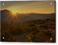 Acrylic Print featuring the photograph Sunrise Mission Trails San Diego  by Jeremy McKay