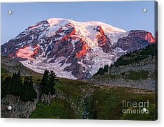 Sunrise Mt Rainier Acrylic Print