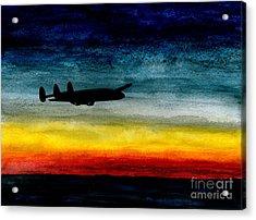 Sunrise Near Iceland Acrylic Print by R Kyllo