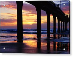 Sunrise New Brighton Pier Nz Acrylic Print