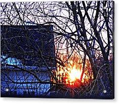 Sunrise Next Door Acrylic Print by Sarah Loft
