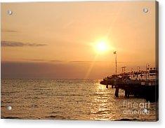 Sunrise Ocean Acrylic Print by Michal Bednarek