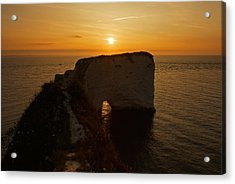 Sunrise Old Harry Rocks Acrylic Print