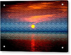 Sunrise On Brushed Metal Acrylic Print