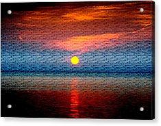 Sunrise On Brushed Metal Acrylic Print by Michele Kaiser