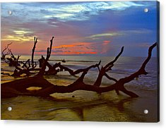 Sunrise On Bulls Island Acrylic Print