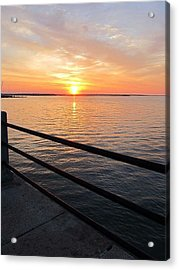Sunrise On Charleston Sc Battery Acrylic Print by Joetta Beauford