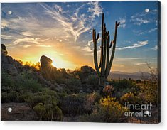 Sunrise On Granite Mountain Acrylic Print