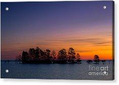 Sunrise On Lake Mattamuskeet Acrylic Print