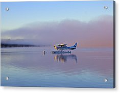 Sunrise On Lake Te Anu Acrylic Print