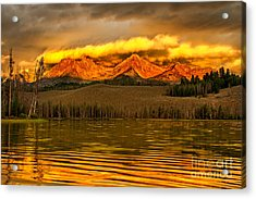 Sunrise On Little Redfish Lake Acrylic Print