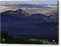Sunrise On Longs Acrylic Print by Tom Wilbert