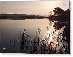 Sunrise On Meadow Acrylic Print by Kathi Mirto