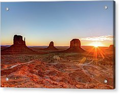 Sunrise On Monument Valley Acrylic Print