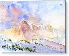 Sunrise On Mount Ogden Acrylic Print