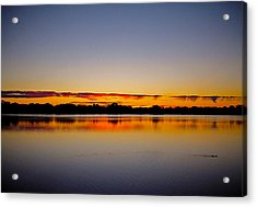 Sunrise On Riviere Des Mille-iles Acrylic Print by Juergen Weiss