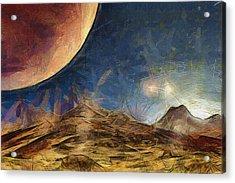 Sunrise On Space Acrylic Print by Ayse Deniz