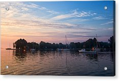 Sunrise On St. Michaels Md Harbor Acrylic Print