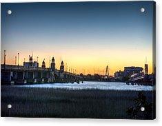 Sunrise On The Ashley River Acrylic Print by Walt  Baker
