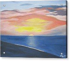 Sunrise On The Atlantic Acrylic Print by Edna Fenske