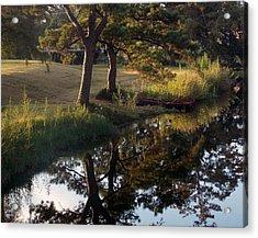 Sunrise On The Bayou Acrylic Print by John Glass