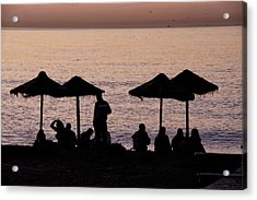 Sunrise On The Beach After A Night Out Acrylic Print