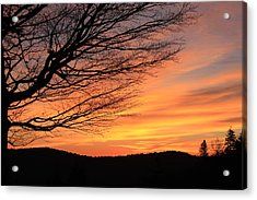 Sunrise On The Blue Ridge Parkway Acrylic Print by Mountains to the Sea Photo