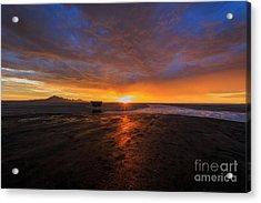 Sunrise On The Bonneville Salt Flats Acrylic Print by Holly Martin