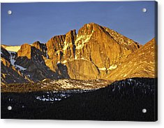 Sunrise On The Diamond Acrylic Print by Tom Wilbert
