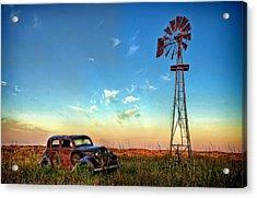 Acrylic Print featuring the photograph Sunrise On The Farm by Ken Smith