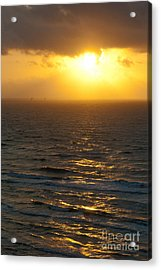 Sunrise On The Gulf Acrylic Print by Barbara Shallue