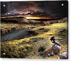 Sunrise On The Pawnee Grasslands Acrylic Print by Ric Soulen