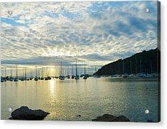 Sunrise On The Sea Acrylic Print by Anton Joseph