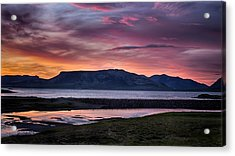 Sunrise On The Snaefellsnes Peninsula In Iceland Acrylic Print