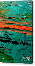 Acrylic Print featuring the painting Sunrise On The Water by Jacqueline McReynolds