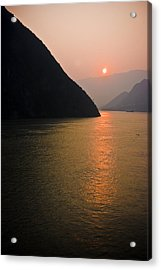 Sunrise On The Yangzi Acrylic Print