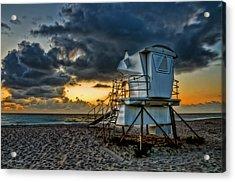 Sunrise On Vero Beach Hdr 1 Acrylic Print